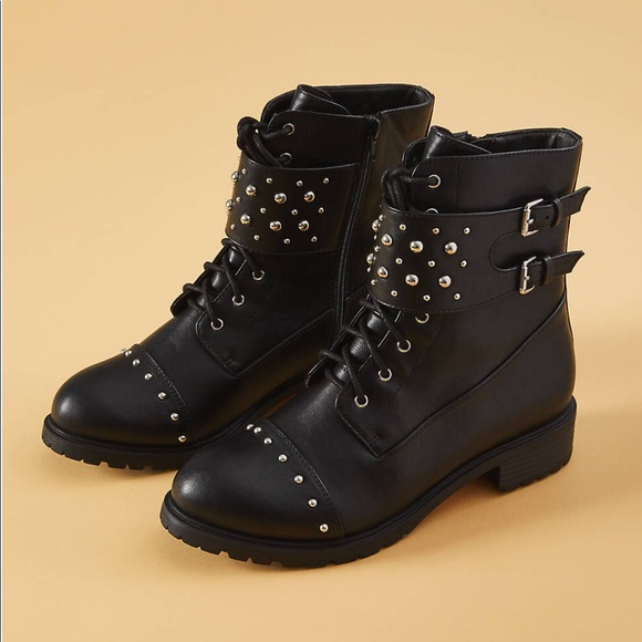 4275be0351c Studded Combat Boots (Wide Width) NWT